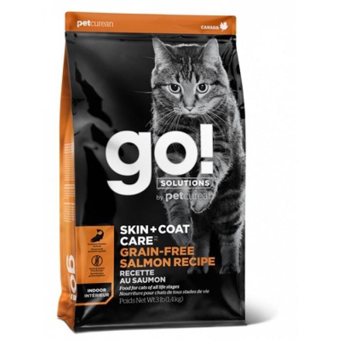 GO! Корм беззерновой для котят и кошек, с лососем. SKIN + COAT. 7,26 кг., zt91125, GO!